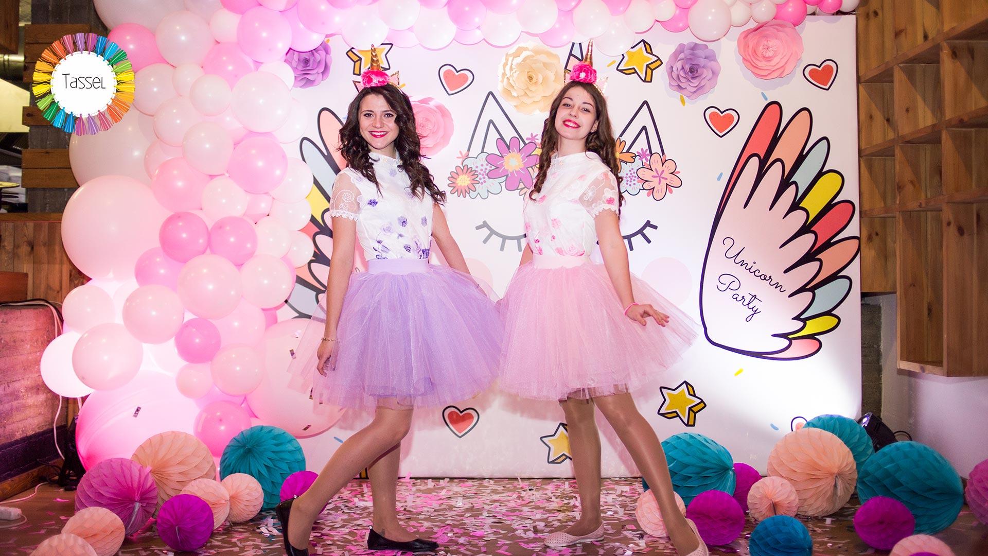 фтозона в стиле Единорог и принцесса для девочек в розовых тонах